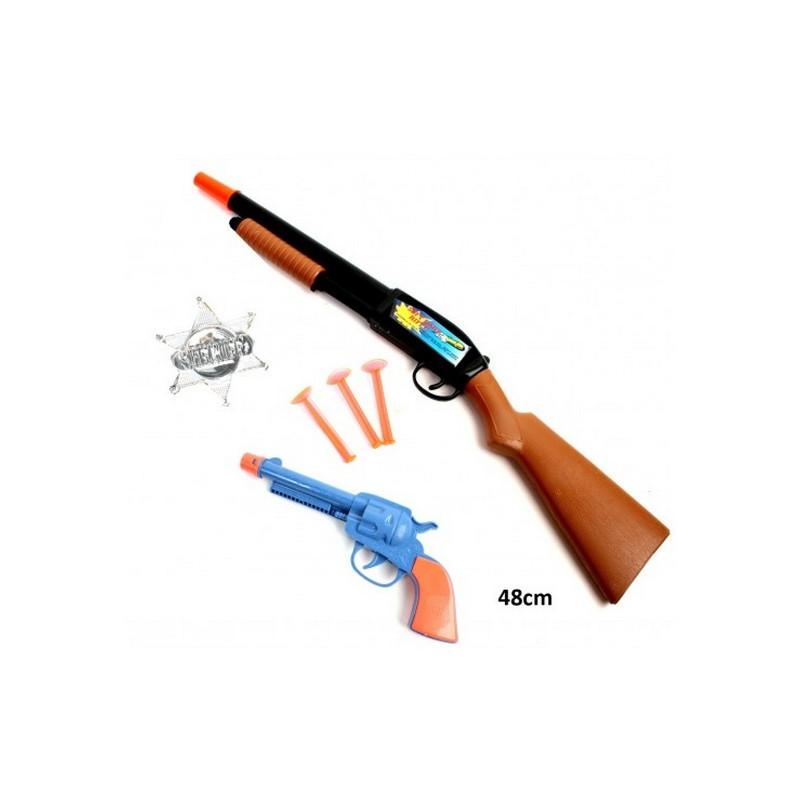 Arme fusil 48 cm avec révolver et accessoires Jouets et articles kermesse 28582
