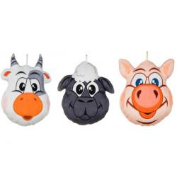 Peluche tête animal 20 cm Jouets et articles kermesse 79010