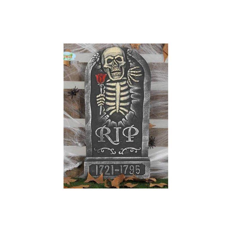 Pierre tombale avec squelette et inscriptions déco halloween Déco festive 26128