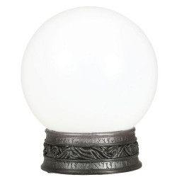 Boule de cristal avec couleurs, lumière et son 20 cm Déco festive 26136