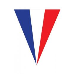 Guirlande 10 fanions drapeau Français 5 m Déco festive E62184