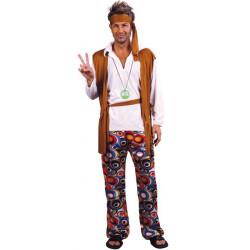 Déguisement hippie homme marron taille S Déguisements 152697 -89840