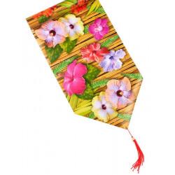 Chemin de table fleur d'hibiscus 1.80 m Déco festive 58305-57189
