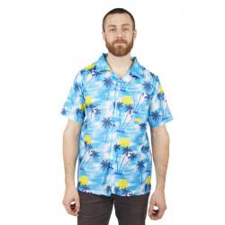 Chemise Hawaienne bleue adulte Déguisements 27057