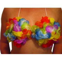Soutien gorge hawaïen en fleurs Accessoires de fête 57010