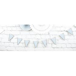 Guirlande fanion festonnée bleu pastel et or 3 m Déco festive 913421