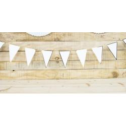 Guirlande fanion festonnée blanche et or 3 m Déco festive 913810