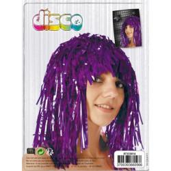 Perruque tinsel violette Accessoires de fête 87333614