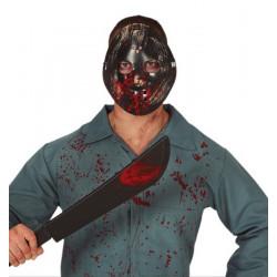Masque assassin plastique avec machette Accessoires de fête 2260