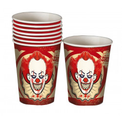 Gobelets carton clown tueur x 8 Déco festive 19987
