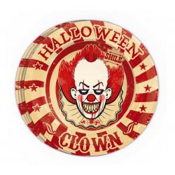 Assiettes carton clown tueur x 8 Déco festive 19988