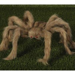 Araignée grise et velue 60 cm Déco festive 26295
