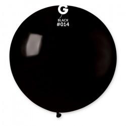 Sachet 1 ballon baudruche géant 80 cm noir Déco festive 329810