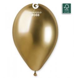 Sachet 5 ballons latex shiny 33 cm or Déco festive 306873
