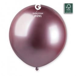 Sachet 3 ballons latex shiny 48 cm rose Déco festive 306965