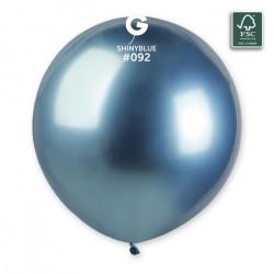 Sachet 3 ballons latex shiny 48 cm bleu Déco festive 306972