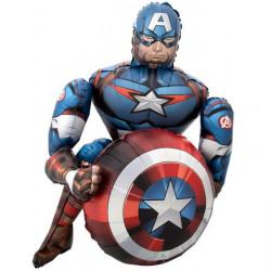 Ballon airwalker alu Marvel Avengers Captain America 99 cm Déco festive 4071301