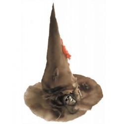 Chapeau sorcière pointu avec tête de mort Accessoires de fête 902108