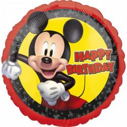 Ballon aluminium Happy Birthday Mickey Mouse 43 cm Déco festive 4189201