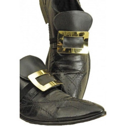 Boucles de chaussures métal doré Accessoires de fête 80 180095 13