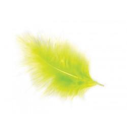 Sachet de 5 plumes décoratives vert lime 10-15 cm Accessoires de fête 0701-11