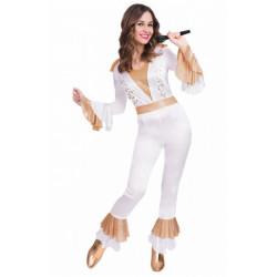 Déguisement Reine du disco blanc femme Déguisements 990571-