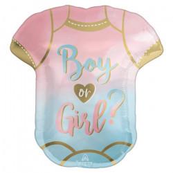Ballon alu forme body Boy or Girl ? 55 x 60 cm Déco festive 4283275