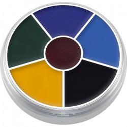 Palette ronde 6 fard Supracolor Black Eye 2 Accessoires de fête 01306-BLACK EYE 2