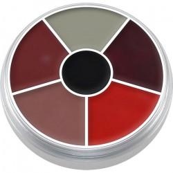 Palette ronde 6 fard Supracolor Burn & Injury Accessoires de fête 01306-BURN INJURY