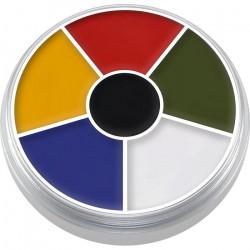 Palette ronde 6 fard Supracolor Multicouleur Accessoires de fête 01306-MULTI