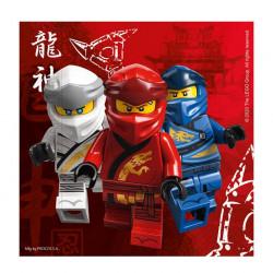 Serviettes papier x 8 Lego Ninjago™ 33 cm Déco festive LLEG92241