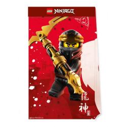 Sachets cadeaux papier x 4 Lego Ninjago™ Déco festive LLEG92242