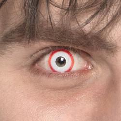Lentilles fantaisie psycho blanches et rouges Accessoires de fête 40114