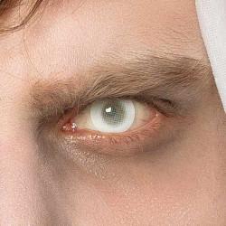 Lentilles fantaisie oeil blanc de fantôme Accessoires de fête 40022