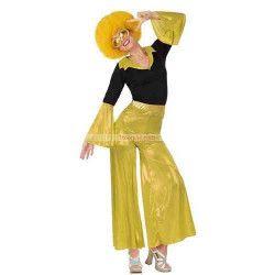 Déguisement disco doré femme taille M Déguisements 26399