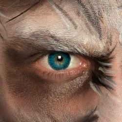 Lentilles fantaisie œil bleu Roi de glace Accessoires de fête 40020