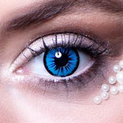 Lentilles fantaisie regard céleste bleu Accessoires de fête 40117