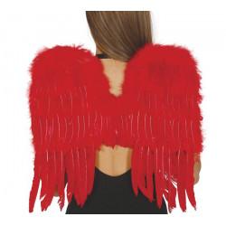 Ailes d'anges plumes rouges 50 cm Accessoires de fête 16265
