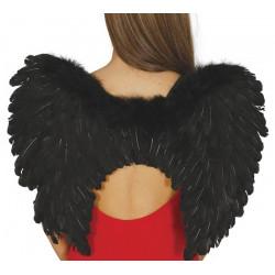 Ailes d'ange plumes noires 50 cm Accessoires de fête 16266