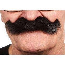 Moustache noire touffue Accessoires de fête 26414C