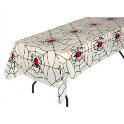 Nappe plastique toile d'araignée 135x270cm Déco festive 26330