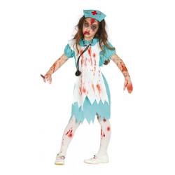Déguisement infirmière zombie ensanglantée fille