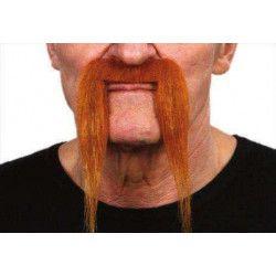 Moustache longue rousse Accessoires de fête 26422M