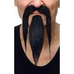 Moustache noire de chinois Accessoires de fête 26438G