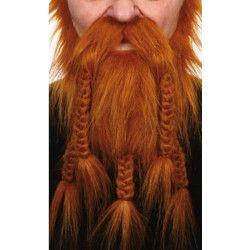 Barbe de viking roux Accessoires de fête 26461M