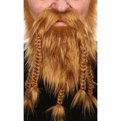 Barbe de viking blond Accessoires de fête 26461P