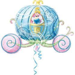 Ballon géant aluminium Carrosse de Cendrillon™ Déco festive 2646301