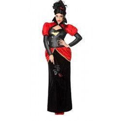 Déguisements, Déguisement Vampire femme rouge/noir taille XL, 26518, 36,90€