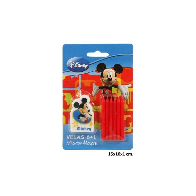 Déco festive, Bougies anniversaire Mickey, 265257, 2,38€