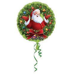 Ballon hélium Père Noël et sa couronne 43 cm Déco festive 2723501